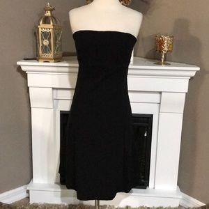 Zara Basic Black Strapless Dress